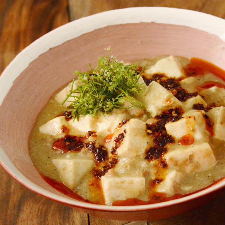 ペンギン食堂の白い麻婆豆腐